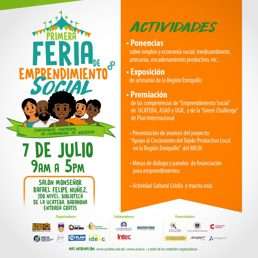 I Feria de emprendimiento social de RD en la UCATEBA, Barahona