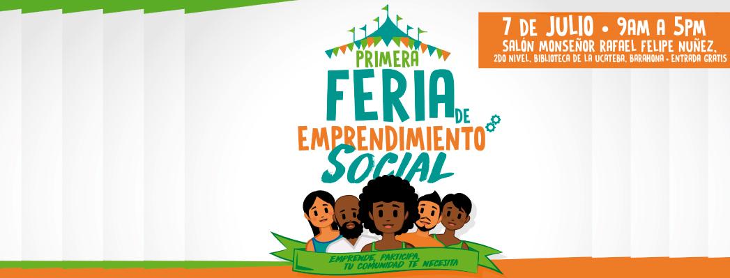 """7 de julio celebramos """"I Feria de Emprendimiento Social"""" en Barahona (Rep. Dominicana)"""