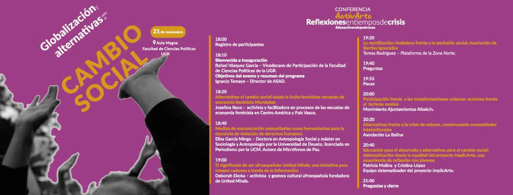 """Conferencia """"Globalización y alternativas para el cambio social"""""""