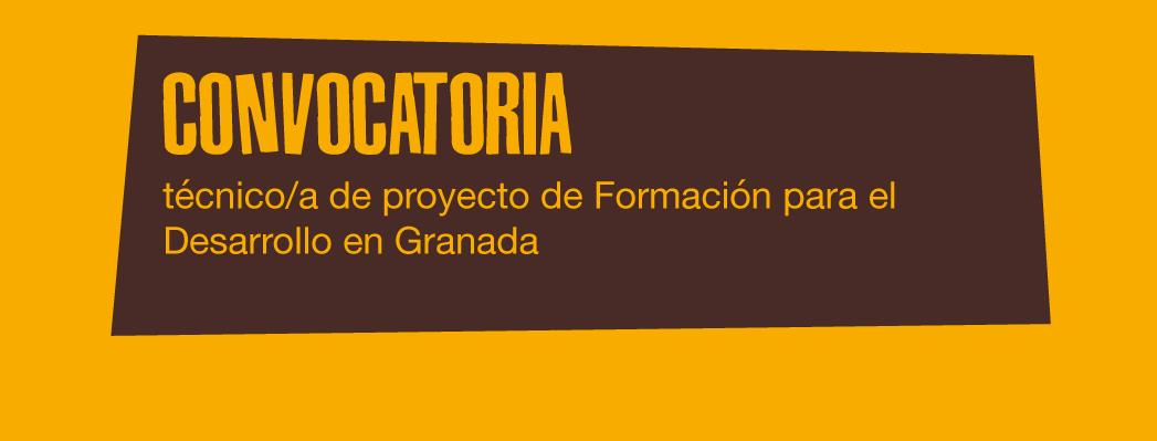 Convocatoria: se busca técnica/o para proyecto de Formación para el Desarrollo en Granada